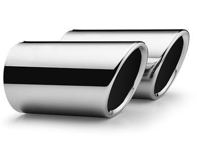 Blende für Endschalldämpfer Chrom, Endrohrduchmesser 60mm, steckbar