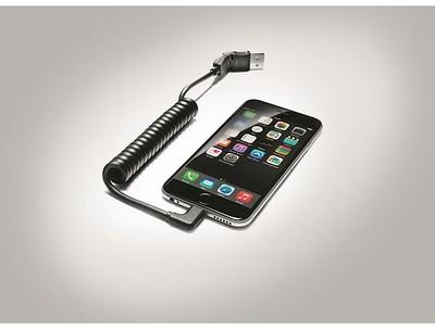 USB-Adapterleitung für mobile Endgeräte mit Apple Lightning-Buchse, gewinkelt