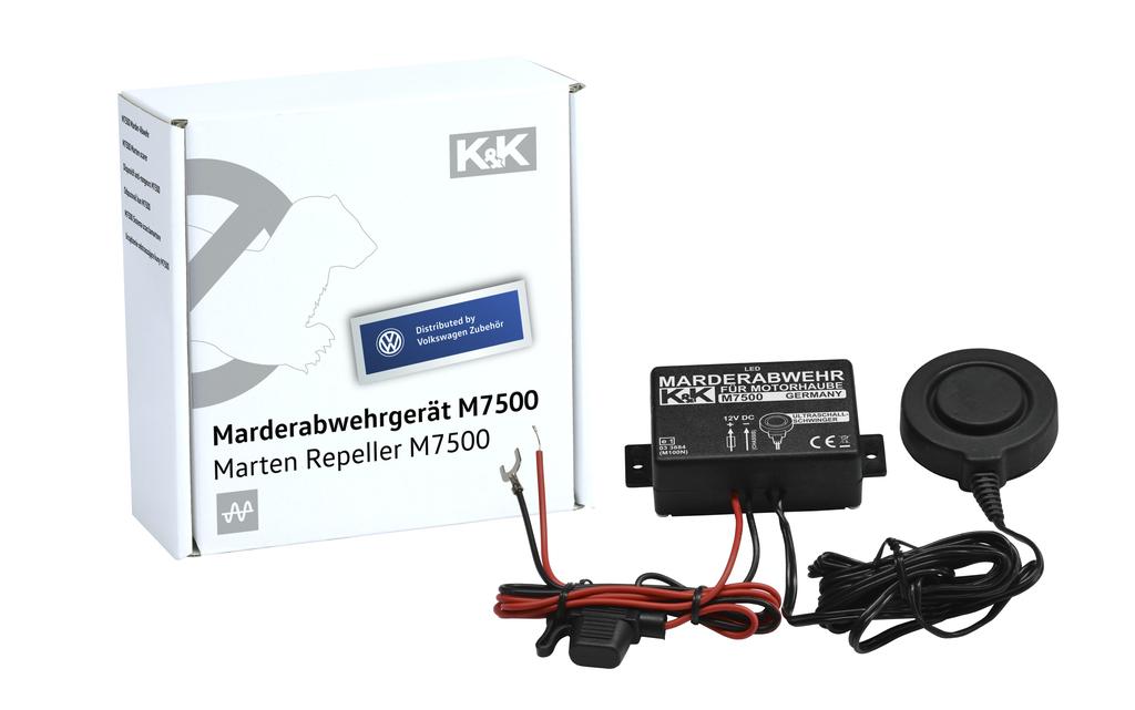 Marder-Abwehranlage (elektrotechnisch)  K&K M7500 Ultraschall, Fahrzeugkarosserie
