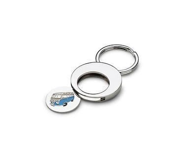 Schlüsselanhänger Silber, mit Pfandchip (1€ Münze), T1