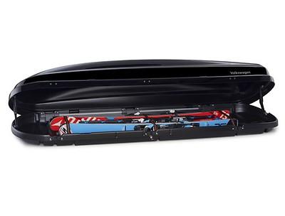 Dachbox  Comfort 460 Liter, Schwarz-Hochglanz